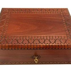 MilmaArtGift Extra Large Wooden Box with Lock
