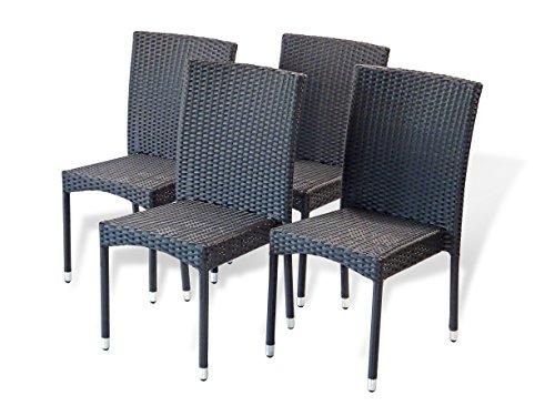 Patio Resin Outdoor Garden Yard Wicker Side Chair