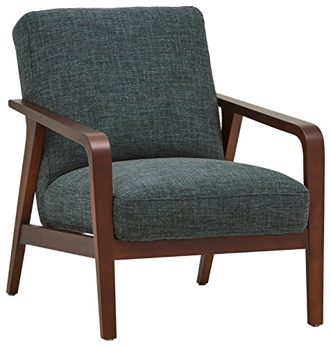 Rivet Huxley Mid-Century Accent Chair, Marine Blue