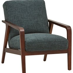 Rivet Huxley Mid-Century Accent Chair, Marine Blue