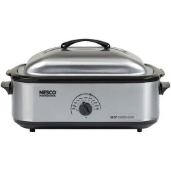 Nesco 18-quart Roaster Oven (stainless Steel With Stainless Steel Cookwell)