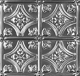 """10 (2' x 4') sheets of Tin Ceiling 6"""" Decorative Victorian Design 10 (2' x 4') sheets of Tin Ceilings #0609 80 sq.ft. 6"""" Decorative Victorian Design."""