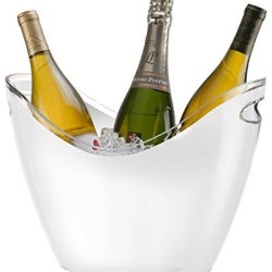 Prodyne Vino Gondola 4 Bottle Tub, Whte
