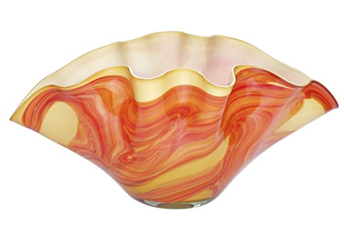 JOZEFINA ATELIER Clam Bowl Amber Orange, Big