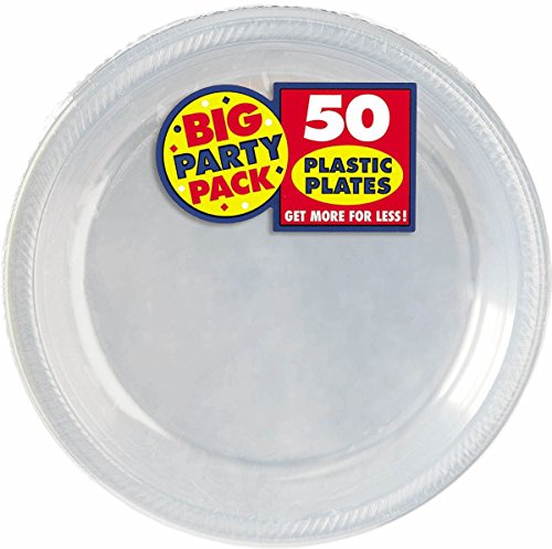 """Big Party Pack Clear Plastic Plates   10.25"""""""