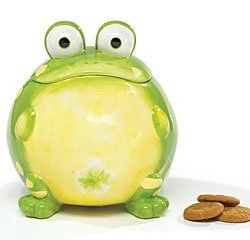 Toby The Toad Frog Cookie Jar Canister For Kitchen