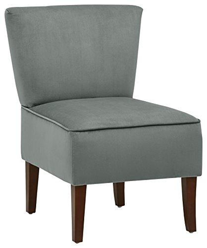 Rivet Ashworth Armless Velvet Accent Chair