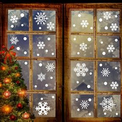 190+ Christmas Snowflake Window Clings Decorations
