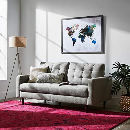 Rivet Pink Global Floral Wool Rug, 9' 8'' x 7'8'', Pink