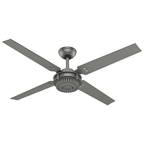 """Hunter 54"""" Chronicle Matte Silver Ceiling Fan"""