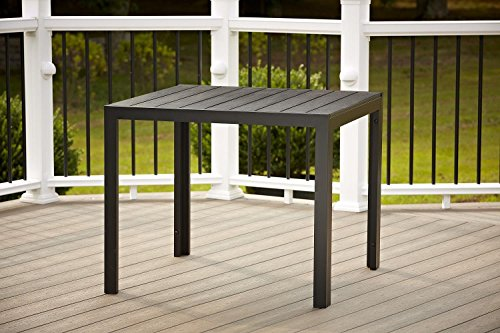 Cosco Outdoor Resin Slat, Square Dining Table