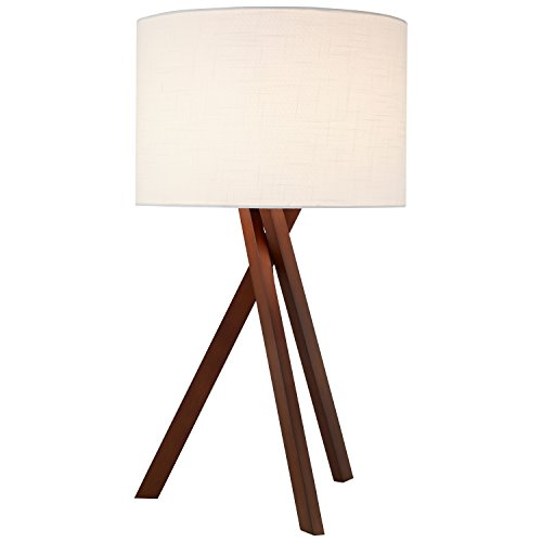 Rivet Atlas Tripod Wood Table Lamp, With Bulb