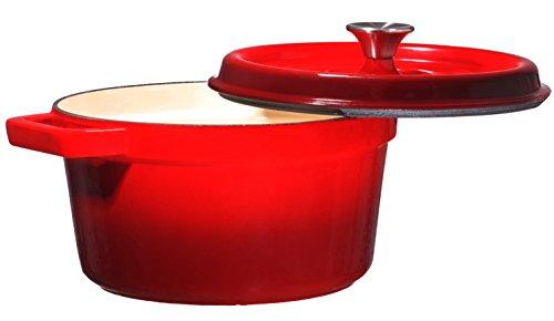 Bruntmor, Enameled Cast Iron Dutch Oven Casserole Dish
