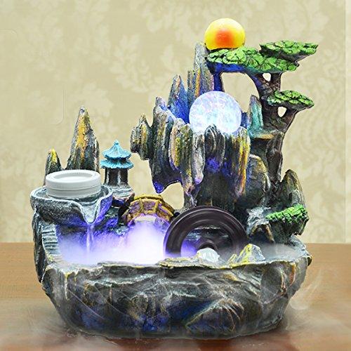 Jeteven Indoor Tabletop Fountains Bonsai Resin