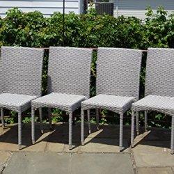 Patio Resin Outdoor Garden Yard Deck Wicker Side Chair