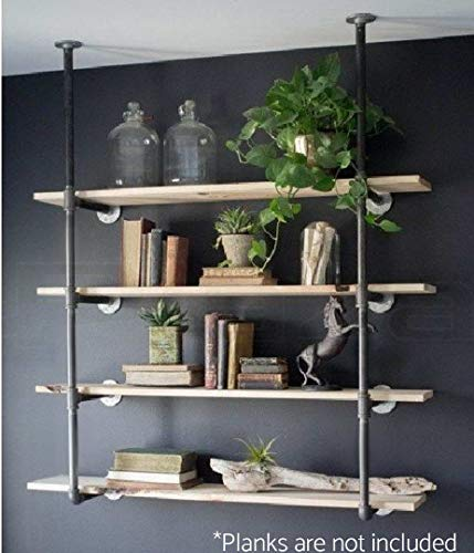 Industrial Retro Wall Mount Iron Pipe Shelf Hung Bracket