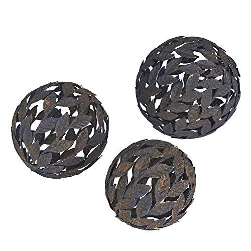 Household Essentials Metal Leaf Decorative Balls