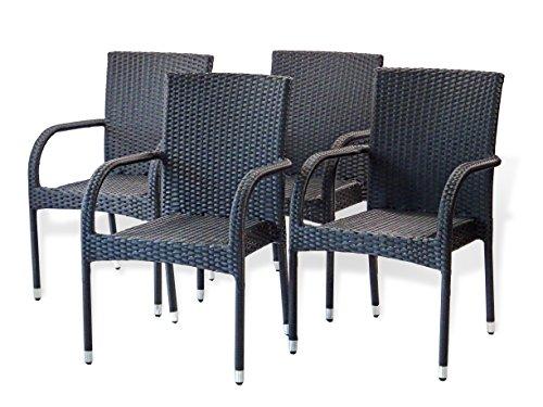 Patio Resin Outdoor Garden Deck Wicker Arm Chair