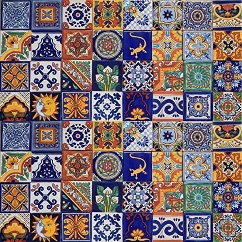 100 Mexican Ceramic Tiles Handmade Talavera Tiles