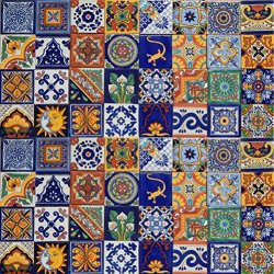100 Mexican Ceramic Tiles Handmade Talavera Tiles