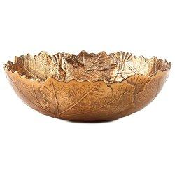 Hallmark Decorative Copper Leaf Bowl