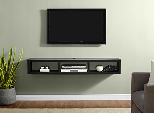 "Martin Furniture Shallow Floating TV Console, 60"", Black"