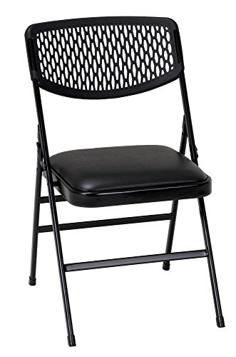 Cosco Products Commercial Fabric Folding Chair, Black