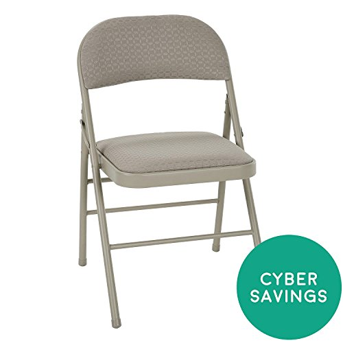Cosco Delux Padded Folding Chair, Tan - 4 pack