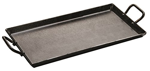 Lodge Carbon Steel Griddle, Pre-Seasoned, 18-inch , Black