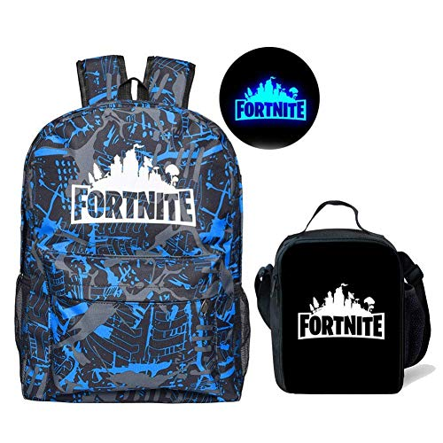 Fortnite Backpack Boy Insulated Lunch Box School Bookbag for Kids