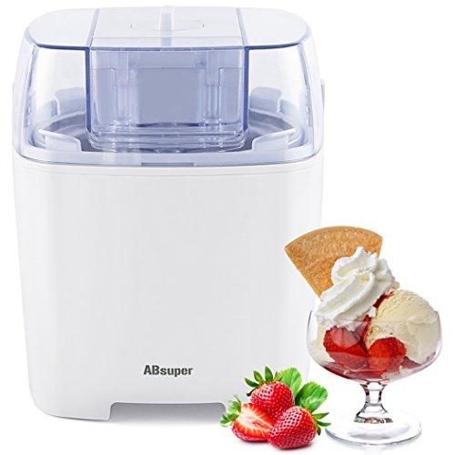 Ice Cream Maker, ABsuper 1.5 Quart Ice Cream Machine