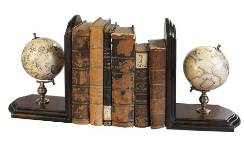Authentic Models Globe Bookends, French Finish