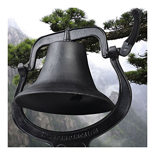 "14"" Large Cast Iron Dinner Farm Bell Antique Vintage"