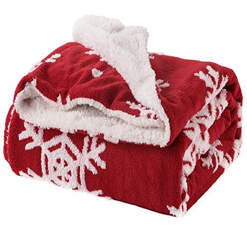 Bedsure Christmas Throw Blanket Jacquard