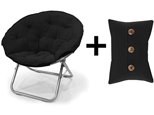 Mainstay Large Microsuede Saucer Chair Soft