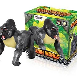 Electronic Walking Gorilla Animal Toy Monkey Kong With Lights & Sounds