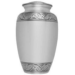 Silver Funeral Urn by Liliane Memorials - Cremation Urn