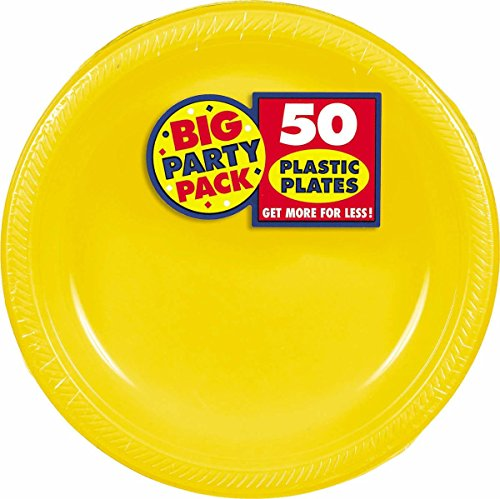 Big Party Pack Sunshine Yellow Plastic Plates | 10.25"