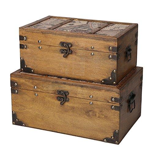 SLPR Journeys Wooden Trunk| Decorative Storage Vintage