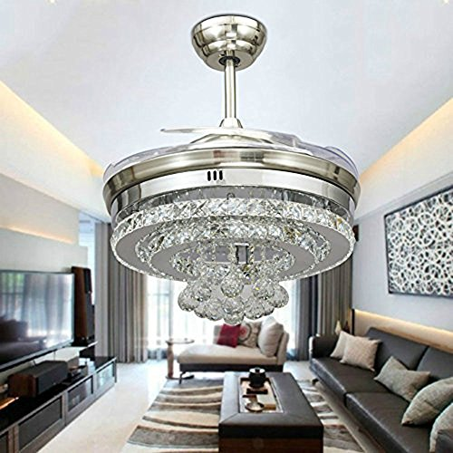 Huston Fan 42 Inch Modern Decorative Crystal Balls