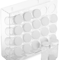 Prodyne Acrylic 20 Bottle Spice Rack, White