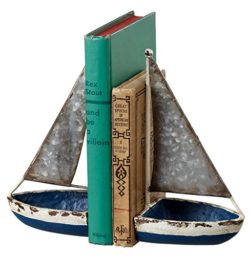 Midwest-CBK Blue Sail Boats Nautical Bookends
