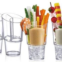 Prodyne Veggie Sticks & Dip On Ice, Set of 4
