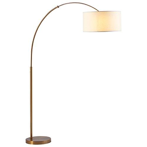 "Rivet Brass Arc Floor Lamp, 76""H, With Bulb"