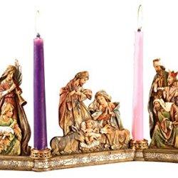 Avalon Gallery Advent Candleholder, Holy Family Nativity Scene
