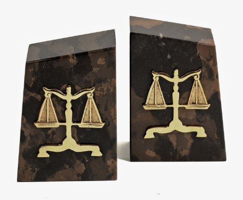KensingtonRow Home Collection Bookends - Scales of Justice