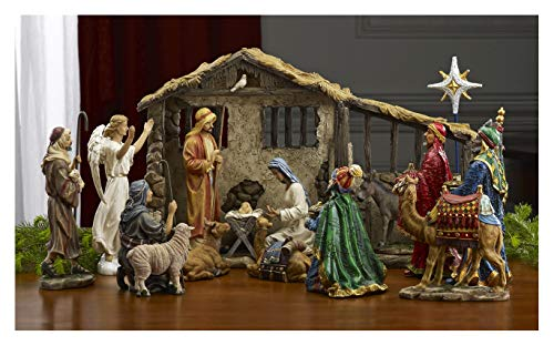 Deluxe Edition 16 Piece 10 Inch Christmas Nativity Set