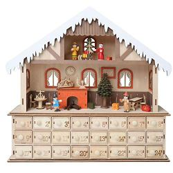 WHAT ON EARTH Lighted Santa's Workshop Advent Calendar