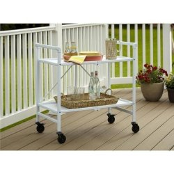Quick and Easy Cosco Folding Serving Cart, Multiple Colors