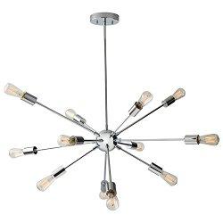 Rivet Mid-Century Modern Sputnik Chandelier W/ Bulbs